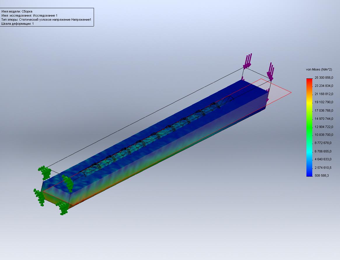 Расчет железобетонных конструкций в SW Simulation