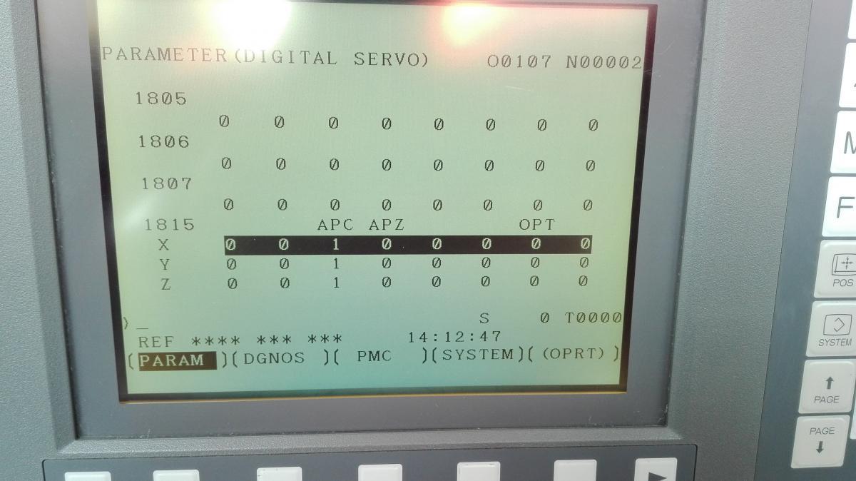 Cлетели нулевые точки Fanuc Series 0i-MC - Fanuc - Форум CAD