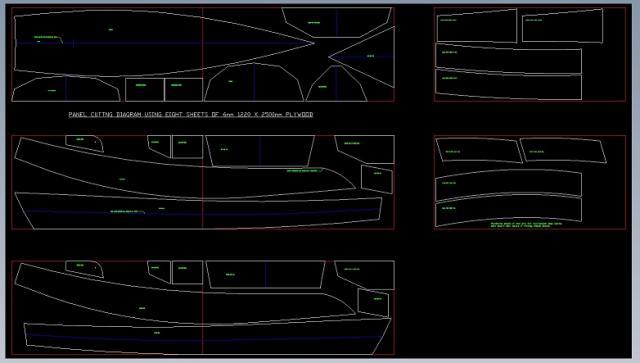 раскройка алюминиевой лодки