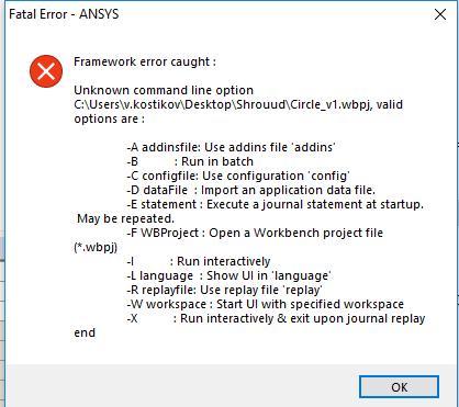 Ansys Fatal Error