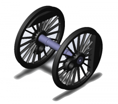 Модель колес паровоза СУ